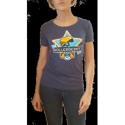 T shirt bleu, femme, MRD